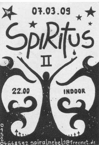Party Flyer #Spiritus 2 -Indoor Experiment- 7 Mar '09, 22:00