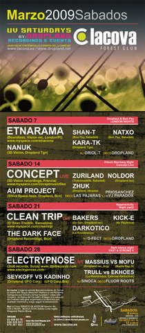 Party Flyer Electrypnose @ La Cova 28 Mar '09, 23:30
