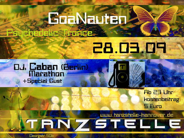Party Flyer GoaNauten 28 Mar '09, 23:00