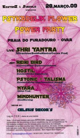 Party Flyer PSYKADELIK FLOWER POWER PARTY 28 Mar '09, 23:30
