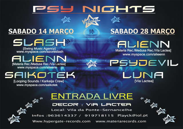 Party Flyer PSY PARTY II March 28 Mar '09, 23:30