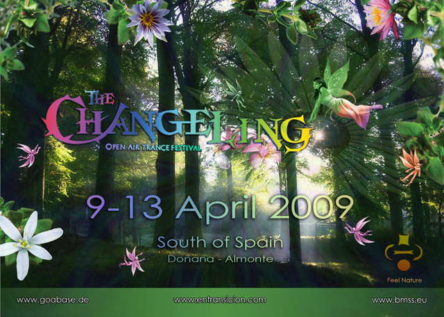 Party Flyer The CHANGELING O.A. Trance Festival 9 Apr '09, 12:00