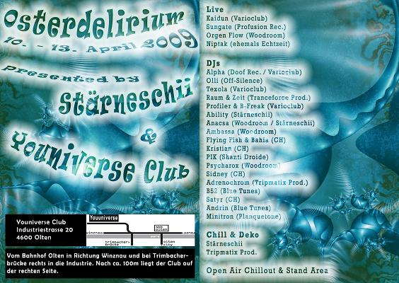 Party Flyer Osterdelierium 10 Apr '09, 21:00