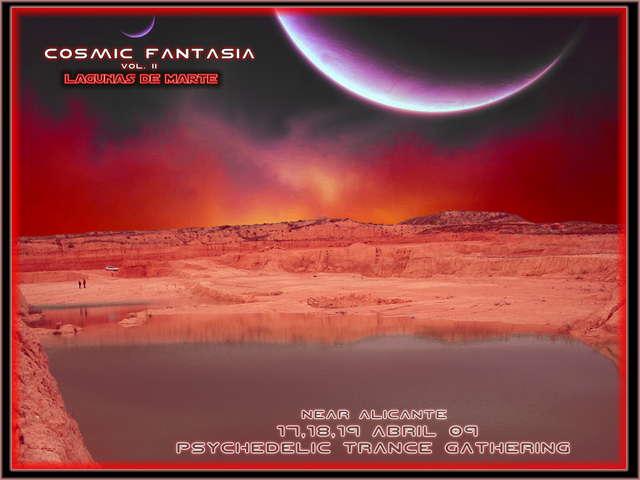 Party Flyer Cosmic Fantasia II (Wyk´s Birthday): Lagunas de Marte 17 Apr '09, 20:30