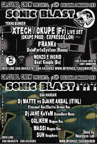 Party Flyer SoNiC BlaSt :::::: by Ca.Cu.Bo. Crew + Beat Kouple 2 May '09, 23:00