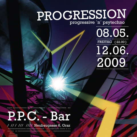 Party Flyer PROGRESSION 7 8 May '09, 22:00