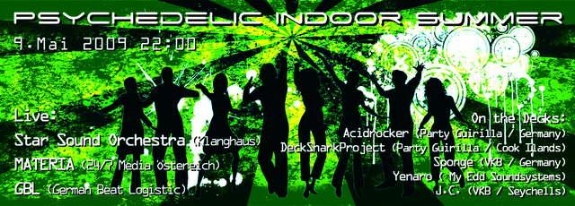 Party Flyer Psychedelic Indoor Summer 9 May '09, 22:00