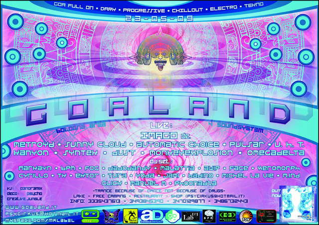 Party Flyer GOALAND - Special Edition 5 Years 23 May '09, 22:00