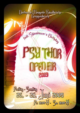 """Party Flyer """" Psy-Thor Part II """" Free Open Air 26 Jun '09, 18:00"""