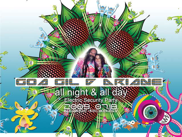 Party Flyer GOA GIL & ARIANE all night and all day 18 Jul '09, 21:00