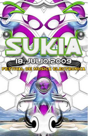 Party Flyer SUKIA VI 2009 18 Jul '09, 22:00