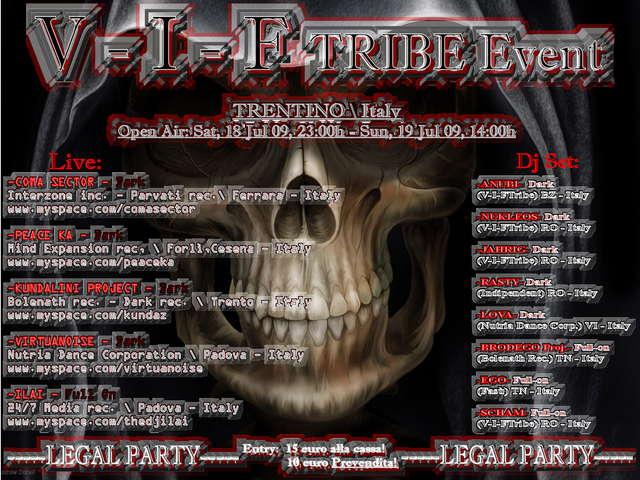 Party Flyer V - I - FTRIBE Event PsyTrance - Dark Party 18 Jul '09, 23:00