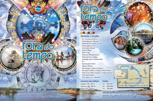 Party Flyer ..::: FESTIVAL FORA DO TEMPO 2009 - *Special Edition* :::.. 22 Jul '09, 22:00