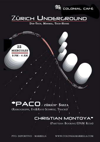 Party Flyer zürich underground 22 Jul '09, 21:00