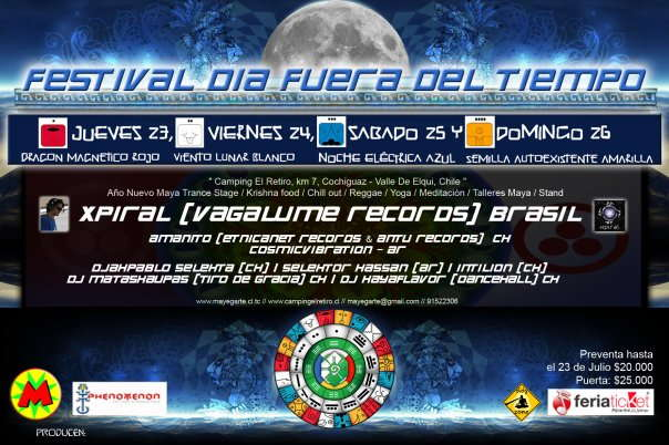 Party Flyer Festival Dia Fuera Del Tiempo - Valle de Elqui - Chile 23 Jul '09, 22:00