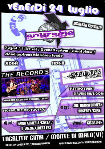Party Flyer Sound Explosion 24 Jul '09, 22:00