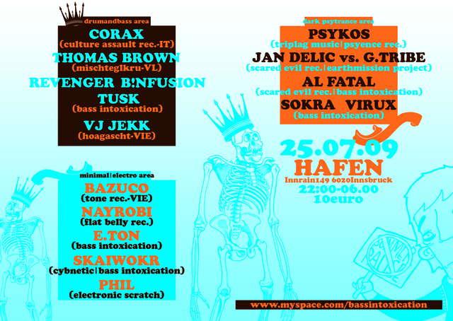 Party Flyer BassIntoxication - SummerBreak 25 Jul '09, 22:00