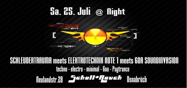 Party Flyer @ Night 25 Jul '09, 22:00