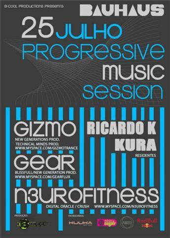 Party Flyer Progressive Music Sessions 25 Jul '09, 22:00