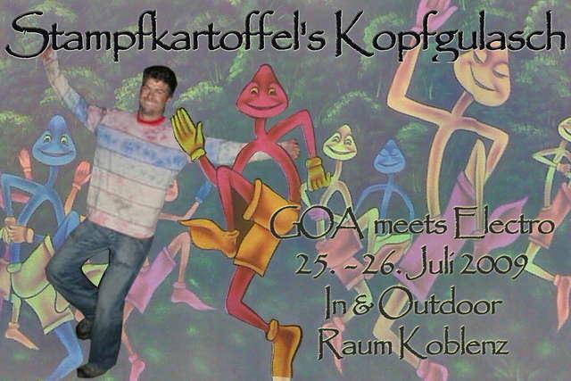 Party Flyer Stampfkartoffels Kopfgulasch 25 Jul '09, 15:00