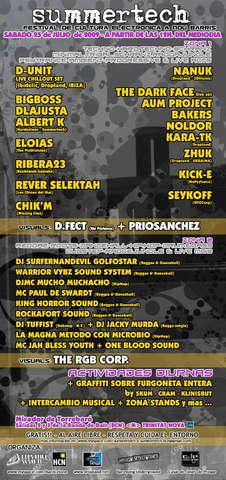 Party Flyer Summertech' 09 25 Jul '09, 12:00