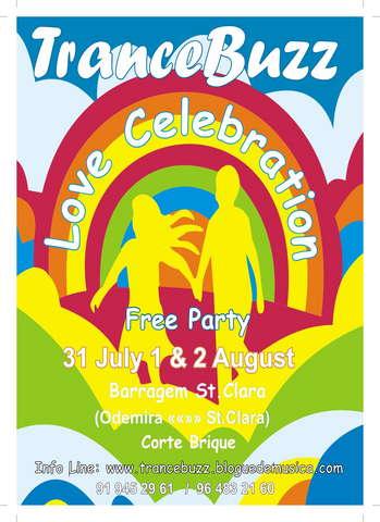 Party Flyer TRANCEBUZZ Love Celebration 31 Jul '09, 21:00