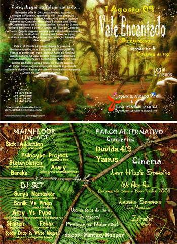 Party Flyer * Sonik & Friends & Tubo d'Ensaio * 1 De Agosto de 2009 1 Aug '09, 23:00