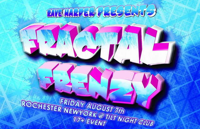 Party Flyer Fractal Frenzy 7 Aug '09, 21:30
