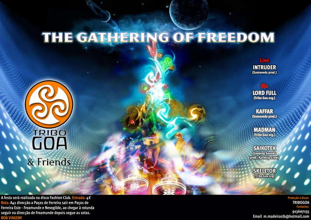Party Flyer GATHERING OF FREEDOM 7 Aug '09, 22:00