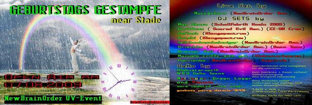 Party Flyer Geburtstags Gestampfe OA 7 Aug '09, 22:00