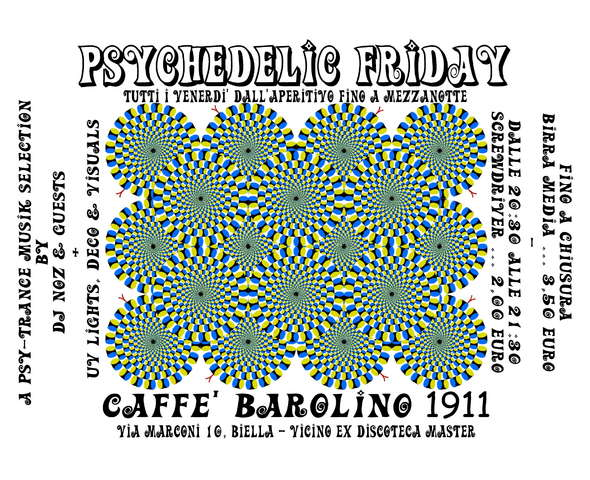 Party Flyer Psychedelic Friday 7 Aug '09, 18:30
