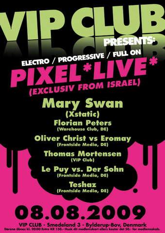 Party Flyer *Denmarks biggest Goa-Indoor-Festival @ VIP Club!* 8 Aug '09, 20:00