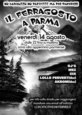 Party Flyer FERRAGOSTO free party 14 Aug '09, 22:00
