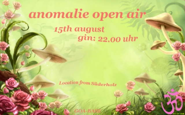 Party Flyer anomalie open air ------PSY-Trance-Party------ 15 Aug '09, 18:00