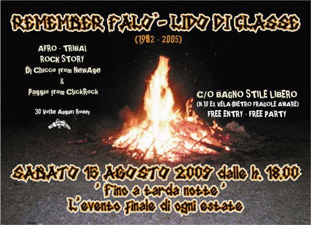 Party Flyer Sab.15 ago REMEMBER FALO' LIDO DI CLASSE 15 Aug '09, 23:00