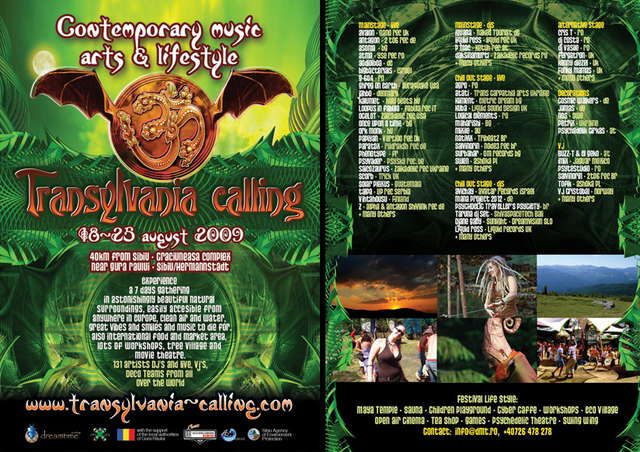 Party Flyer Transylvania Calling 2009 - Welcome to Wonderland 18 Aug '09, 11:00