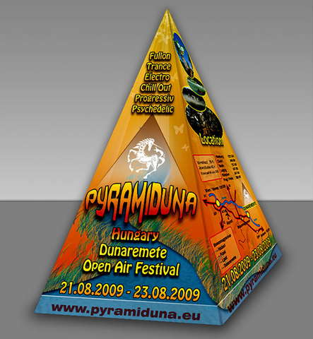 Party Flyer Pyramiduna Festival 21 Aug '09, 14:00