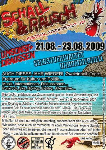 Party Flyer Schall & Rausch Festival 2009 Norderstedt 21 Aug '09, 12:00