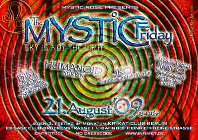 Party Flyer The Mystic Friday 21 Aug '09, 23:00