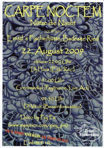 Party Flyer CARPE_NOCTEM (Nütze die Nacht) 22 Aug '09, 22:00
