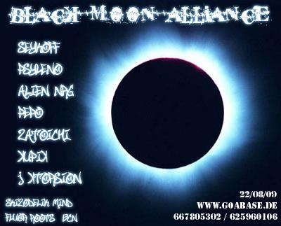 Party Flyer -o-//Black Moon Alliance\\-o- 22 Aug '09, 23:00