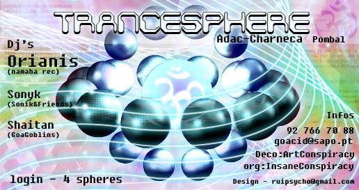 Party Flyer Trancephere 22 Aug '09, 22:00
