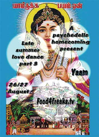 Party Flyer late summer love dance 3 a psychedelic home-comming present 26 Aug '09, 12:00