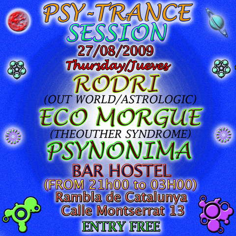 Party Flyer Psy-Trance Session 27 Aug '09, 21:00