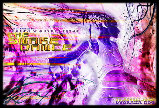 Party Flyer Audiodevlish & Dancing Dragon presents THE SNAKE DANCE 28 Aug '09, 22:00