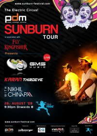 Party Flyer Sunburn - GMS India Tour !!! The Electric Circus is Back!!! 28 Aug '09, 21:30