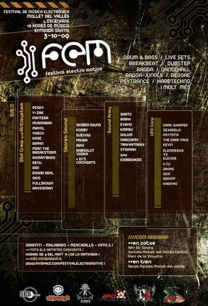 Party Flyer ..:: FEM Festival 09 ::.. 3 Sep '09, 09:00