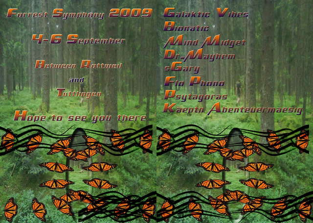 Party Flyer ForestSymphony2009 3Days Full Weekend!!! 4 Sep '09, 20:00