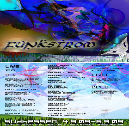Party Flyer Funkstrom 4 Sep '09, 22:00