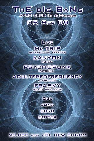 Party Flyer # ThE bIg BaNg # -alternative effect- la grande botta! 5 Sep '09, 22:00